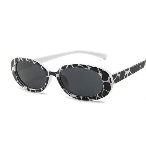 Style Oval Sunglasses Women Vintage Retro Round Frame White Mens Sun Glasses Female Black Hip Hop Clear Glasses UV400 Karachi