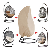 Rattan Swing Patio Garden Weave Hanging Egg Chair Seat Cover Anti UV Waterproof