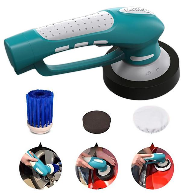 Car Polisher Handheld Electric Cleaner Machine Waterproof Waxing Polisher Wireless Charging Tool Set US Plug Car Polishing