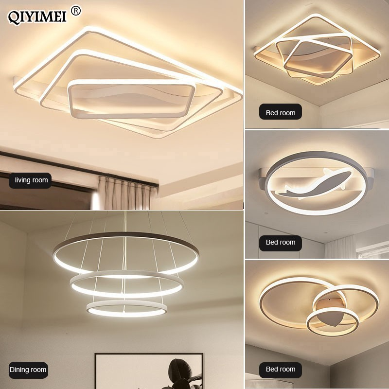 LED Ceiling Lights for whole house luminarias para dimmable with remote control surface mounted AC85-260V ceiling lamps fixturesLED Ceiling Lights for whole house luminarias para dimmable with remote control surface mounted AC85-260V ceiling lamps fixtures