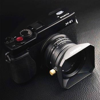 Kwadratowe szkła kaptur dla Sony Fujifilm produktu firmy Olympus lustra obiektywy do aparatu DV kamer 37 39 40 5 43 46 49 52 55 58 mm tanie i dobre opinie Qalart Uniwersalny NEWYI