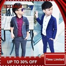 Retail one set Child Blazer Suit Jacket + pant 2pcs boy clothing set 2-10T Wedding flower boy Dress slim Kids Gentle Costume все цены