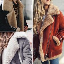 Осенне-зимние куртки женские свободные флокированные теплые тонкие пальто женские повседневные замшевые с лацканами женские парки бархатная хлопковая верхняя одежда