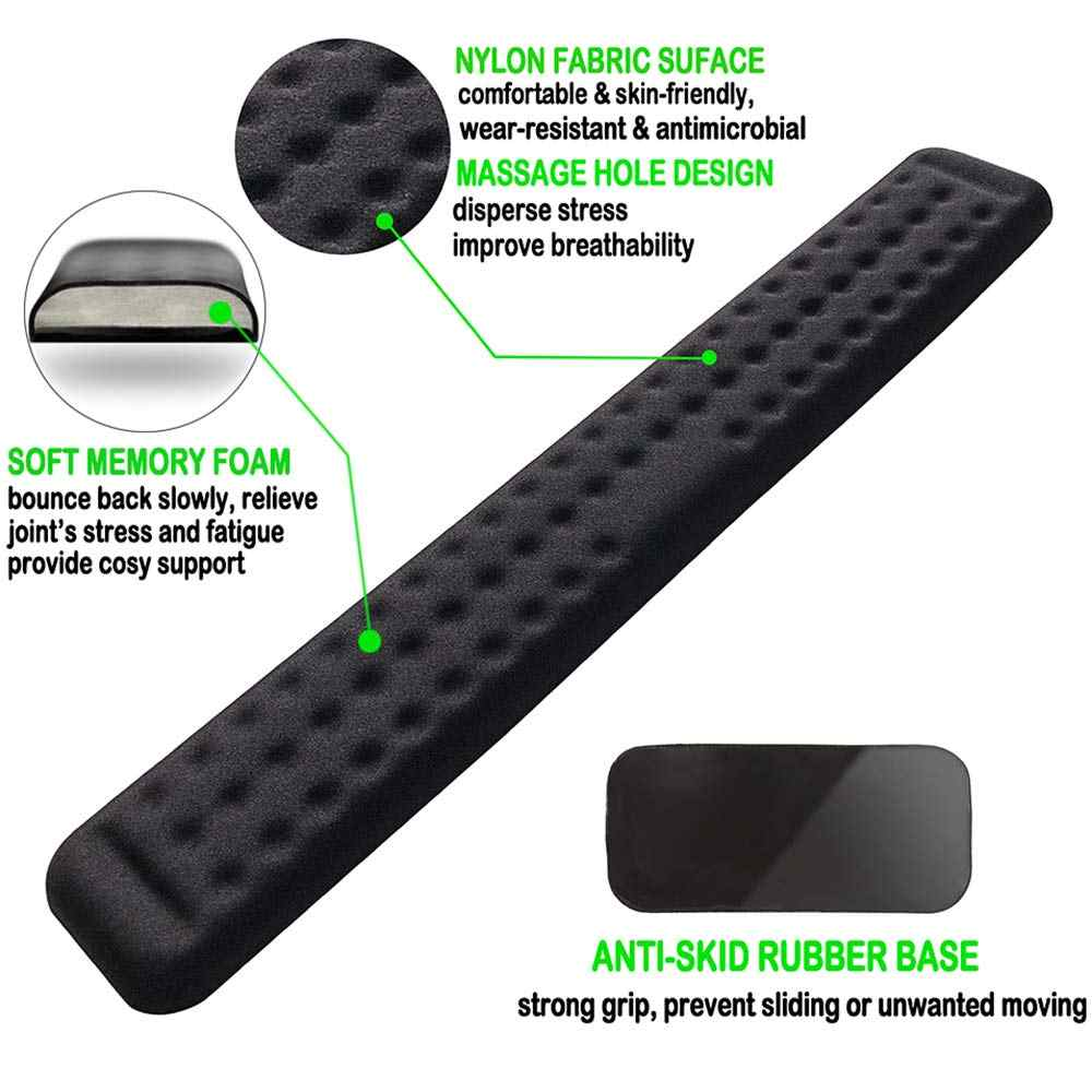 Keyboard Wrist Rest & Mouse Wrist Support Set-Memory Foam Gaming Wrist Cushion For Office, Computer, Laptop & Mac Typing - Erg