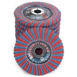 2 шт. 4''x7/8 ''циркониевый диск с абразивным клапаном, радиальный Форма круглое отверстие фенольной смолы поддержку для полировки металла