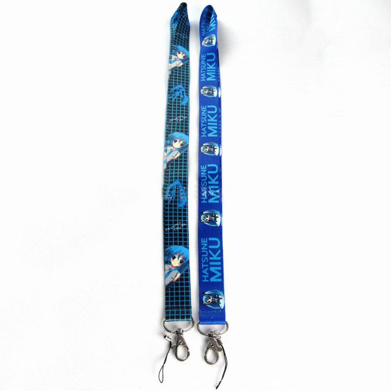 1 Pc Hot Sale Anime Hatsune Miku Lanyard Keys ID Cell Phone Neck Strap Toys Action Figure Toy Gift
