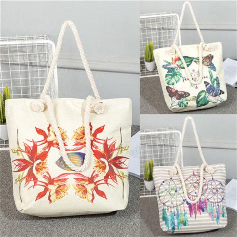 Women's Ladies Canvas Handbag Shoulder Bag Tote Purse Travel Large Messenger Hobo Soft Canvas Bucket Bag