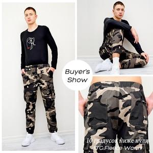 Image 3 - 7XL мужские 2019 весна осень повседневные хлопковые брюки карго с карманами мужские армейские военные тактические флисовые теплые брюки мужские