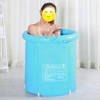 Bandejas de bañera de plástico plegables portátiles, bañera inflable para adultos, bañera para el hogar, piscina de masaje de SPA, Cubo de baño resistente