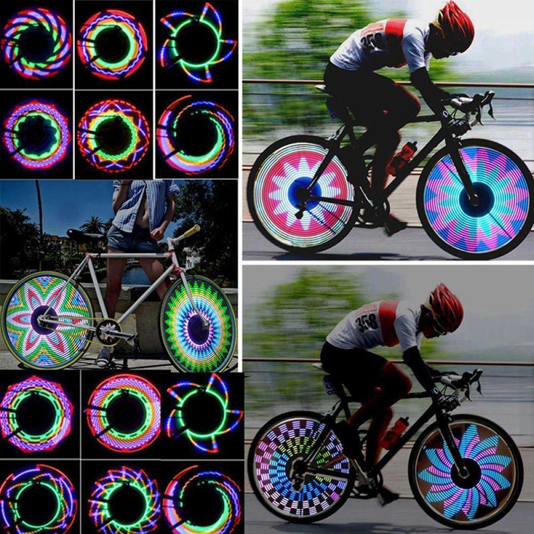 LED Bicycle Wheel  Light 16 LED Bike Bicycle Tire Wheel Flashing Light Outdoor Multicolor Cycling Parts