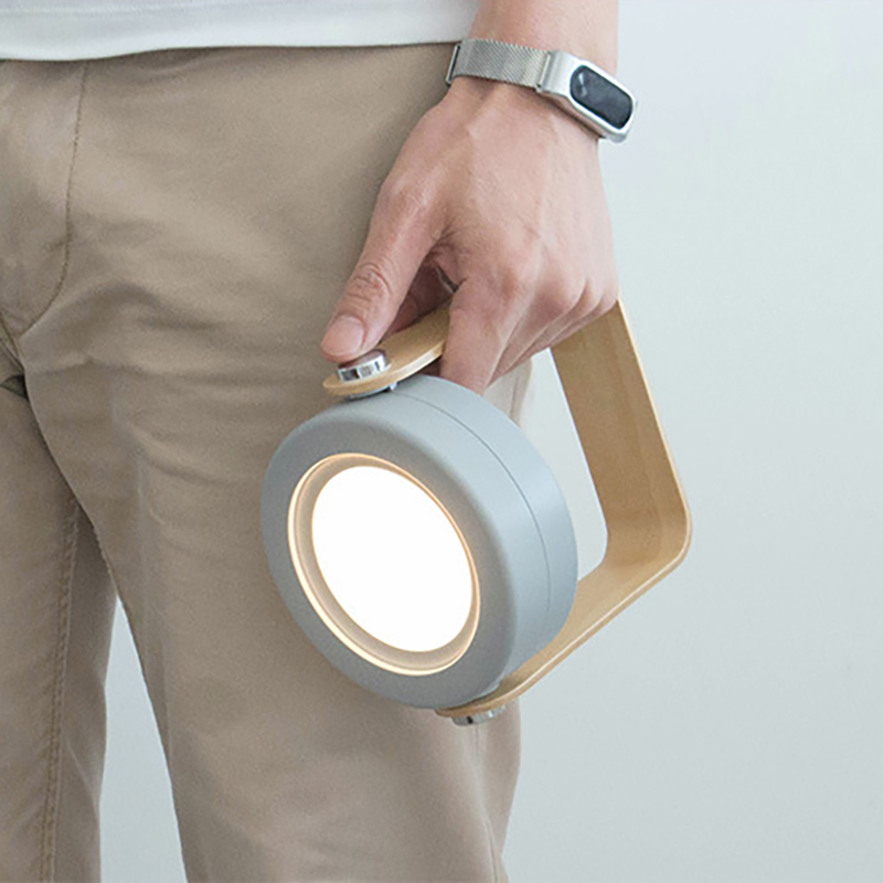 Creative wooden handle portable lantern lamp telescopic folding led table lamp charging night light reading lamp