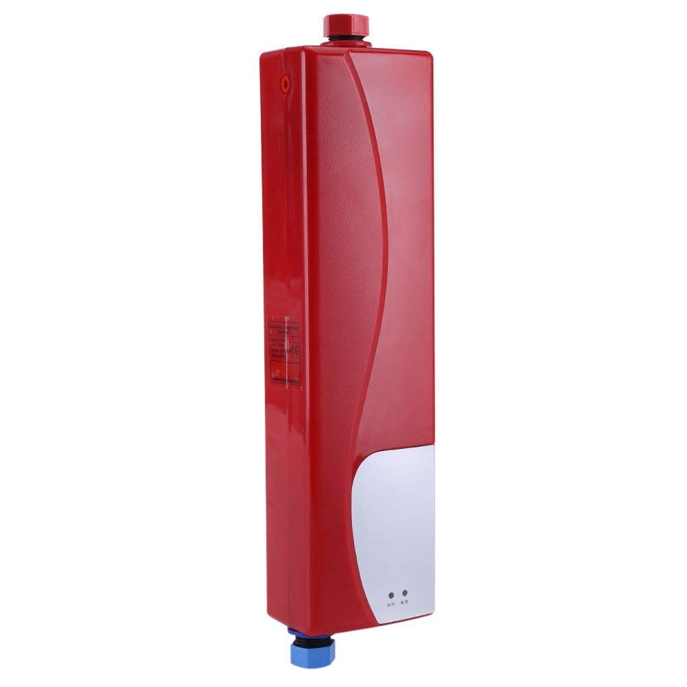 3000 W Electronic Mini Water Heater, Without Tank, With Air Valve, 220 V, With EU Plug, For Home, Kitchen, Bath, Red, Socialme