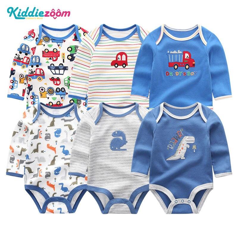 Image 4 - Одежда для маленьких девочек, боди с единорогами, одежда для маленьких мальчиков 0 12 месяцев, комбинезон в полоску, хлопковая одежда для новорожденных, одежда для девочекБоди для малышек   -