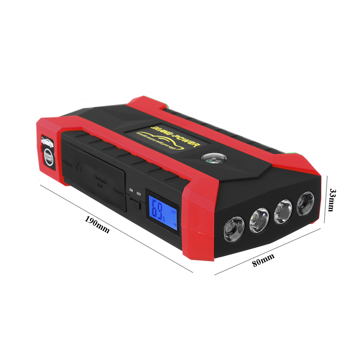 Démarreur de Saut De voiture 600A 89800 mAh Multifonction Chargeur De Voiture Démarreur de Saut De Batterie 4USB lumière LED Automatique Portable De Secours de batterie externe - 5