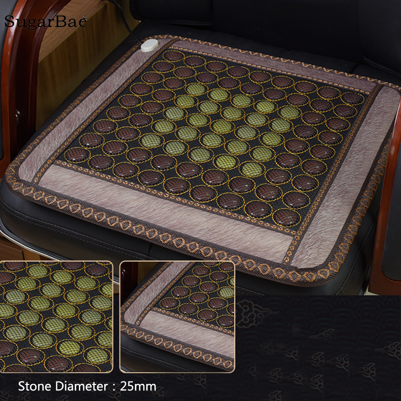 цена New Arrival Korea Health Care Heating Jade Cushion Natural Tourmaline Mat Physical Therapy Mat Size 45x45CM