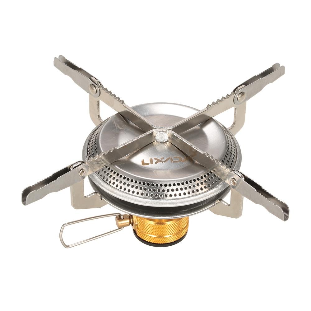 BULIN Mini Portable Stainless Steel Propane Gas Stove Split Type Burner for O SS