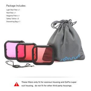 Image 5 - SOONSUN 3 Pack Filters Kit Red Magenta Snorkel Lens Color Filter for GoPro HERO 5 6 7 Black Super Suit Housing Case Accessories