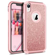 Shockproof Armor For iPhone XR Xs Max 8 Case Luxury Bling Glitter Sparkle Cover Soft Silicon PC Hybrid Protect for 5 6