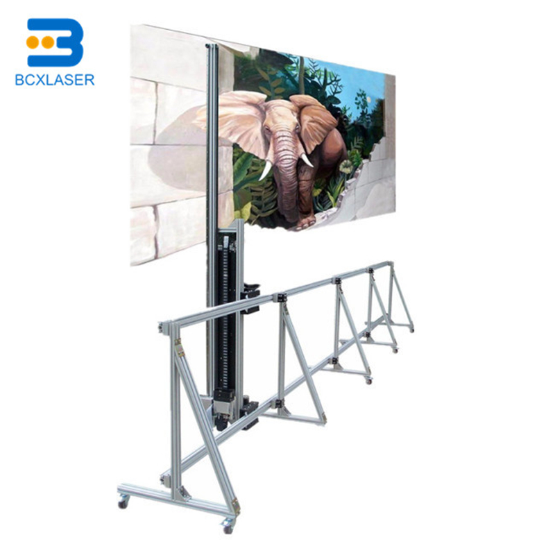 Chinese  PC Control Art ZeescaBCX 3D Vertical Direct To Wall Inkjet Printer On Wall