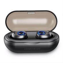 Anomoibuds Capsule Pro Headset 50 Hour Playtime TWS Earbuds V5.0 Bluetooth Earphone Deep Bass Hi-Fi Stereo Sound Earphone(China)