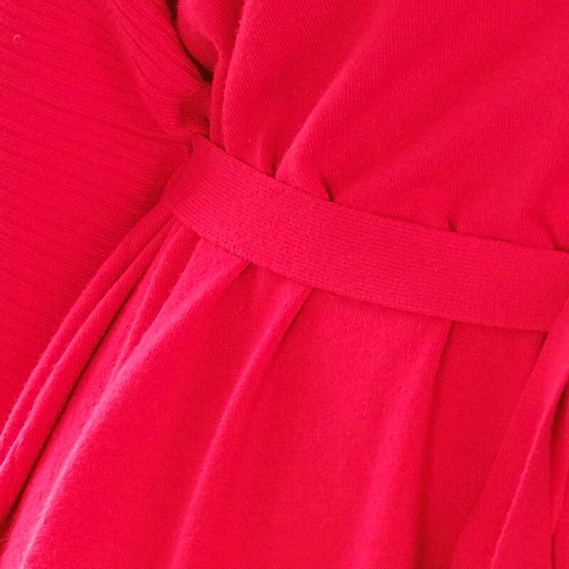 2019 Murciélago Otoño Puro Y De Mujeres Suelto purple Punto Marca Suéter Xl Black Color Primavera O Las Irregular Ol Nuevo red cuello Mujer 8YIznq