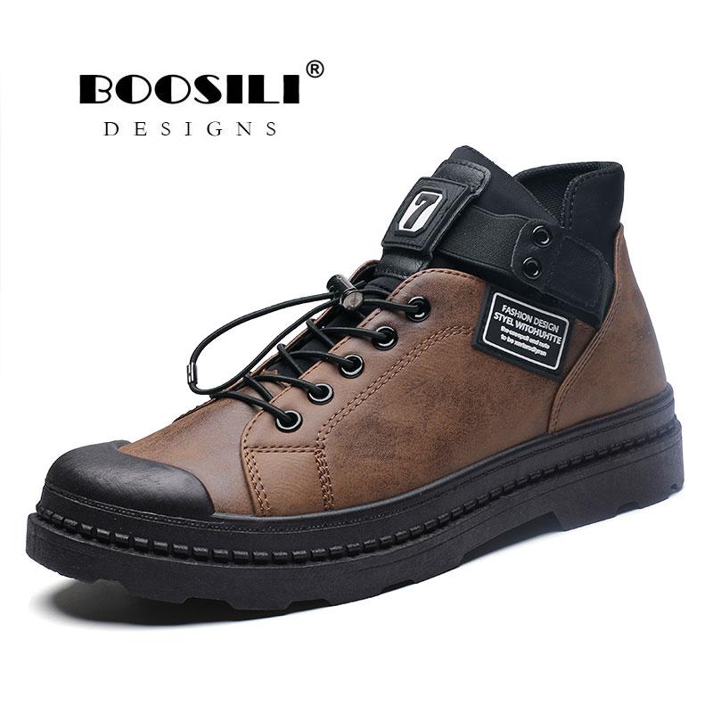 Bota Masculina Promotion hommes bottes 2019 nouvelles bottes d'hiver Botas Masculina hommes cachemire chaussures en peluche chaud