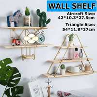 Decorative Wooden Wall Shelf Rack Support Grid Wall Hanging Geometric Figure For Wall Decoration Living Room Bedroom Nordic Rack