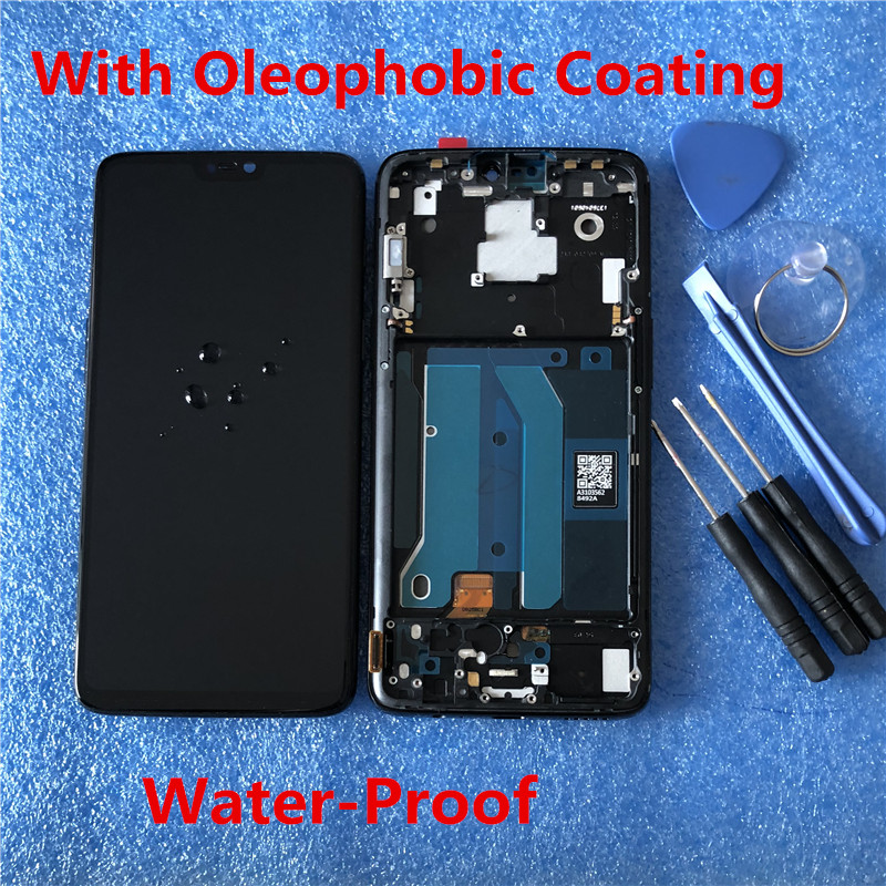 """Image 3 - Original LCD Display With Frame For 6.28"""" Oneplus 6 Axisinternational Super AMOLED LCD Screen Display+Touch Panel Digitizer-in Mobile Phone LCD Screens from Cellphones & Telecommunications on"""