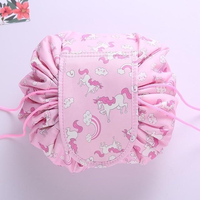 Women Drawstring Travel Cosmetic Bag Makeup Bag Organizer Make Cosmetic Bag Case Storage Pouch Toiletry Beauty Kit Box OC471 1
