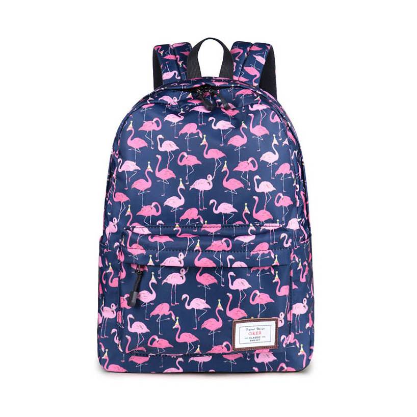 Printed Flamingo Backpack Girl Women Cartoon Animal School Bags Students Laptop Backpacks Ladies Book Bag Travel Shoulder Bags