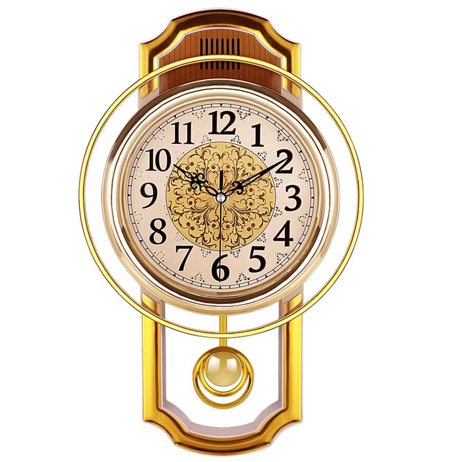 Relógio de Parede Pêndulo do vintage Home Decor Silencioso Best Selling 2018 Produtos Relógio Reloj Pared Grande Decoração Da Sua Casa Chique Gasto 50Q082