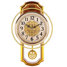 Vintage Pendulum Clock Wall Home Decor Silent Best Selling 2018 Products Shabby Chic Reloj Pared Grande 50Q082