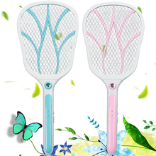 Multifunctional LED Lighting USB Charging Electronic Shock Mosquito Swatter Killer Bug Zapper Racket Trap