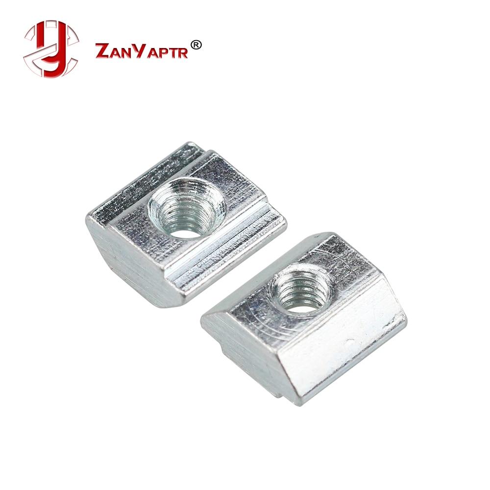 Bloque de tuerca deslizante de 20 PcsT, Tuercas cuadradas M3 M4 M5 M6 para ranura de perfil de aluminio 2020, placa de aluminio recubierta de Zinc para el estándar de la UE