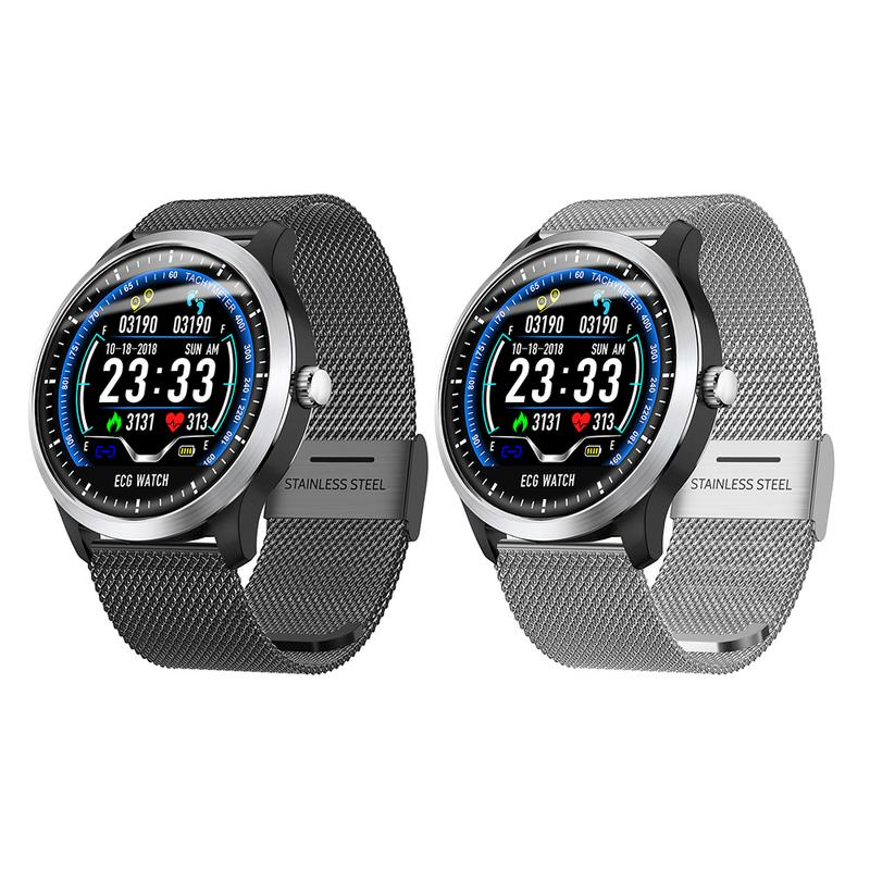 N58 reloj inteligente ECG reloj deportivo ECG + PPG ECG HRV informe de prueba de presión de sangre IP67 inteligente impermeable pulsera - 5