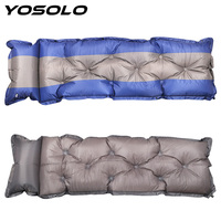 YOSOLO Car Inflatable Mattress Car Air Travel Bed With Pillow Automatic Inflatable Air Pad Moisture proofPortable Bed Seat Cover