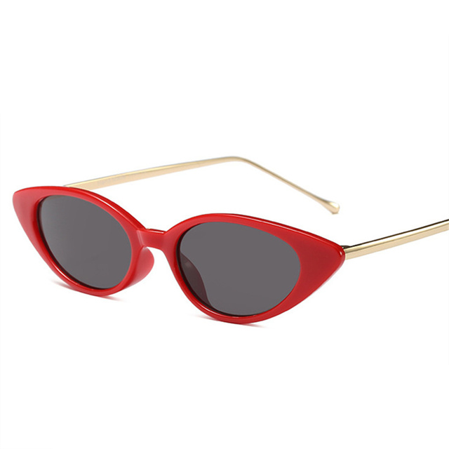 a96248ba6c Women Cat Eye Sunglasses Metal Frame Red Glasses Brand Designer Ladies Oval  Sun Glasses Retro Mirror Shades Men Goggle UV400
