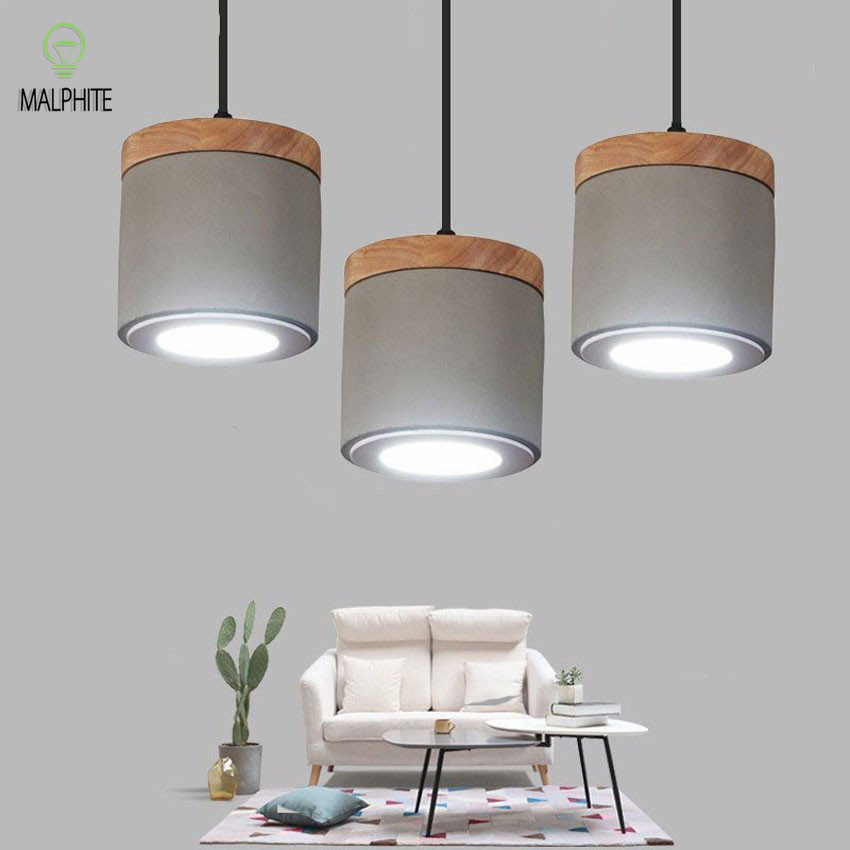 Nordic Led Pendant Lights Lustre Cement Hanglamp Loft Deco Hanging Lamp Living Room De Kitchen Reading Indoor Luminaire SuspenduNordic Led Pendant Lights Lustre Cement Hanglamp Loft Deco Hanging Lamp Living Room De Kitchen Reading Indoor Luminaire Suspendu