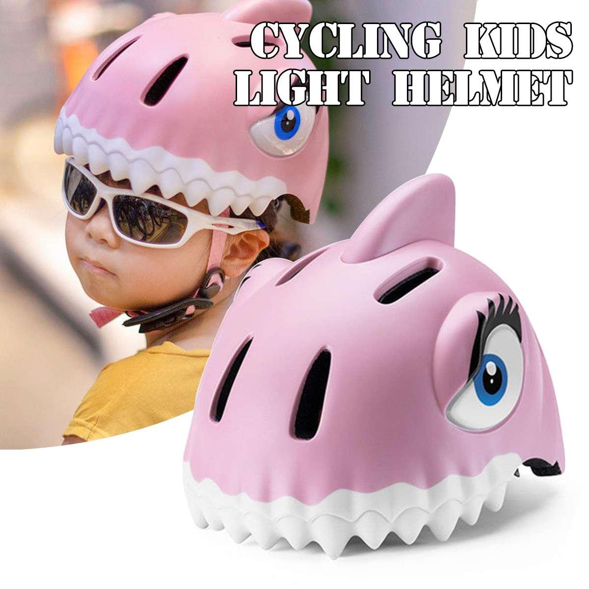 49 55cm Kid Light Helmet Skateboard Helmet Child Safety Animal Helmet Bicycle Helmet Cycling Caps Bicycle