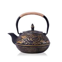 900ml Mini Cast Iron Kettle Teapot Infuser Strainer Tea Set Plum Blossom Teapot