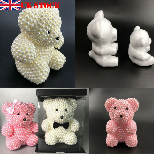 Foam Bear Modeling Polystyrene Styrofoam For DIY Valentines Decoration 15/20cm Dolls Foam Bear Modeling Polystyrene Styrofoam