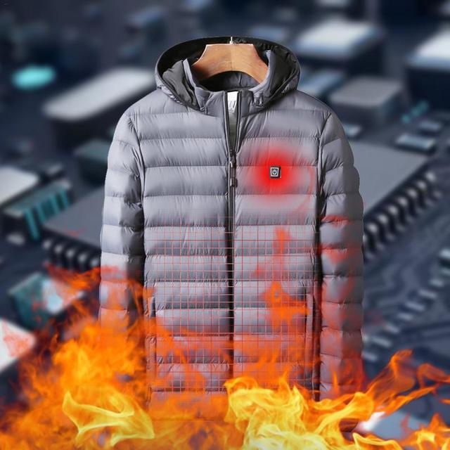Winter Warm Heating Jackets Men Women Smart Thermostat Hooded Heated Clothing Men's Waterproof Skiing Hiking Fleece Jackets