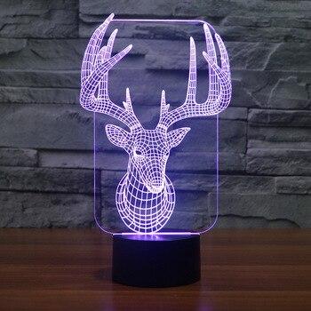 Cerf créatif Led veilleuse en gros nouveauté créative électronique cadeau atmosphère lampe à Led belle bande dessinée enfants jouets