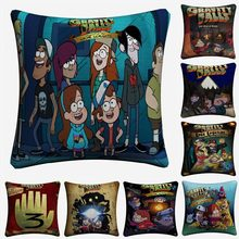 Gravity Falls Cartoon TV Plays Decorative Cotton Linen Cushion Cover 45x45cm For Sofa Chair Pillow Case Home Decor Almofada(China)