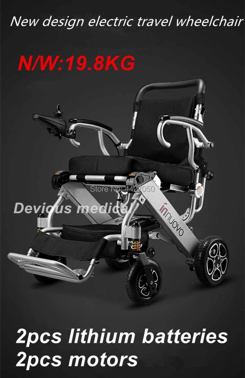 2019 Fashion lightweight folding power electric font b wheelchair b font for font b disabled b