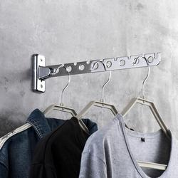 Stainless Steel Folding Space Saving Clothes Hangers with Hook Magic 6 /8 Hole Wall Mounted Clothes Drying Rack