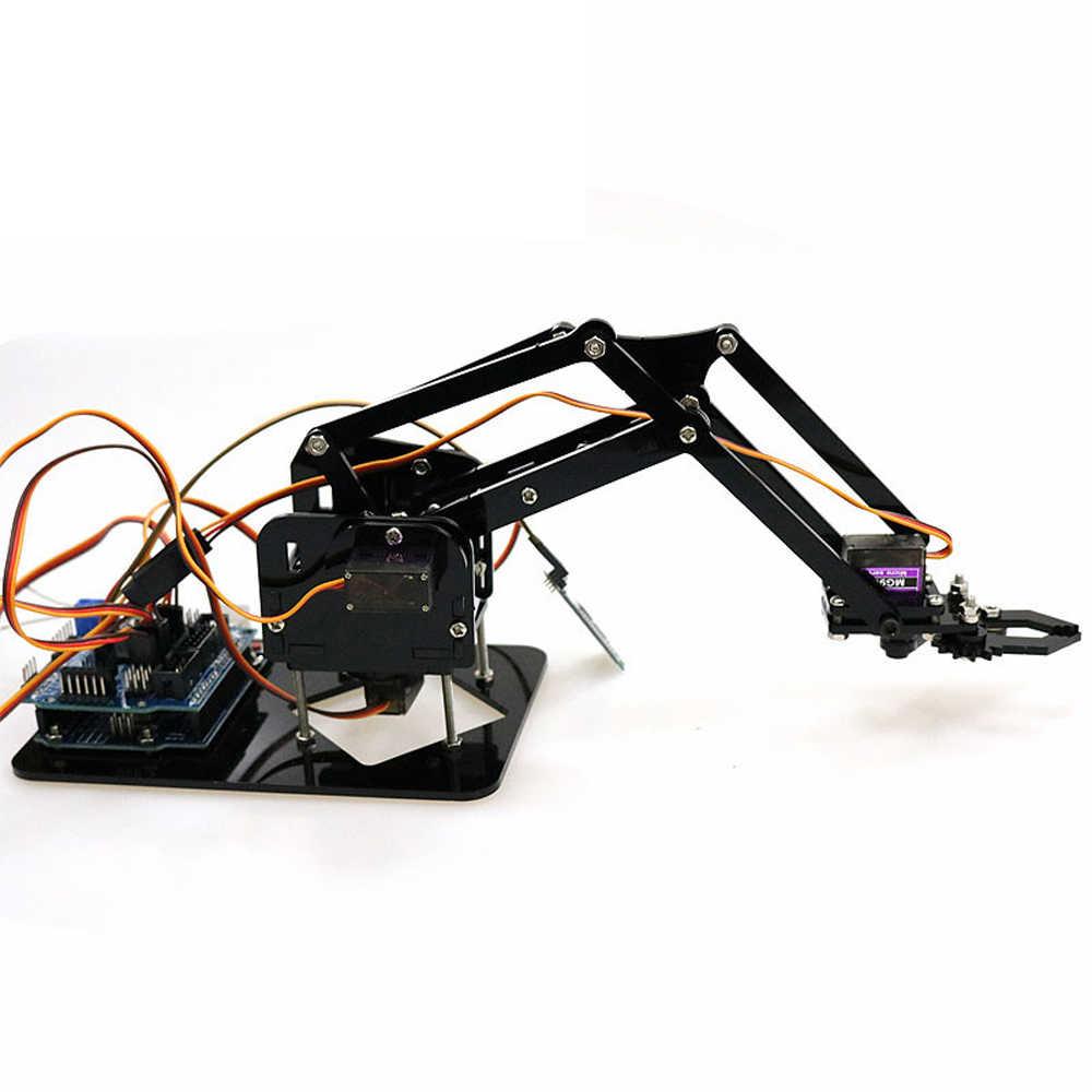 DIY Robot Hand Mechanical Arm Robotic Claw Controller Set Desktop DIY Kit  with 4pcs SG90 Servos