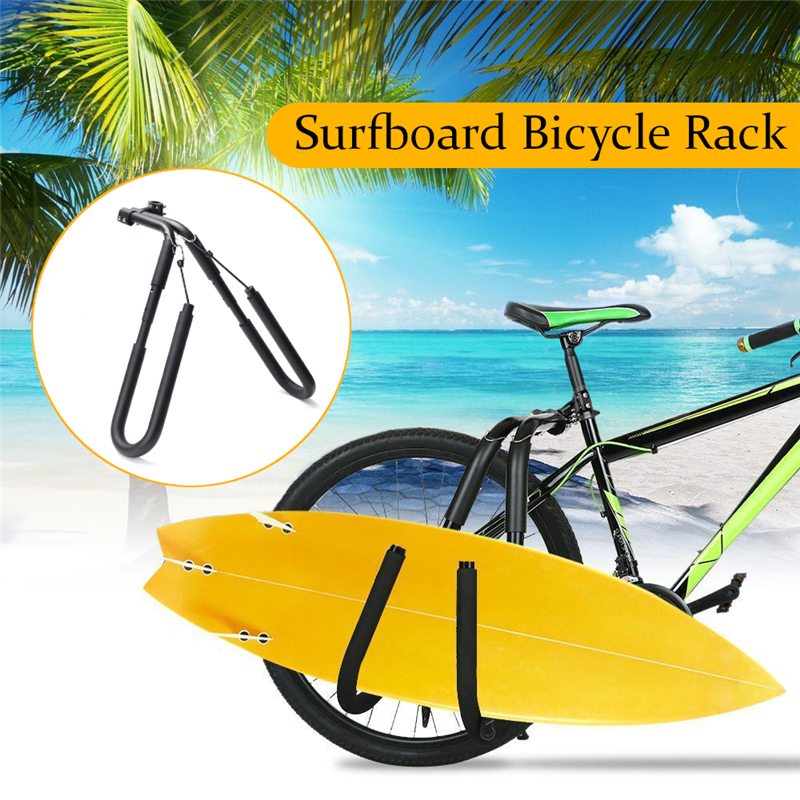 """Здесь можно купить  Fits Surfboards Up to 8"""" Bike Mount Surfboard Wakeboard Racks Bicycle Surfing Carrier Mount to Seat Posts 25 to 32mm Accessories  Спорт и развлечения"""