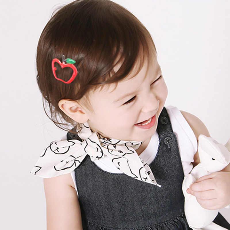 Nueva gran oferta 1 par niños piña plátano Barrette bebé encantadores Clips de pelo fresa coreana cereza accesorios para el cabello