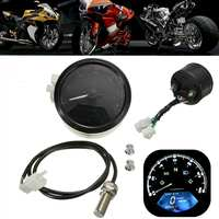 112K RPM LCD Digital Odometer Speedometer for 2,4 Cylinders and six gear Motorcycle Multifunction With night vision dial
